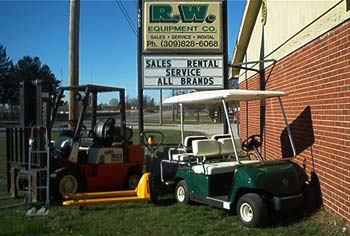 golf carts and forklifts
